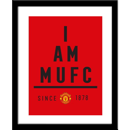 Personalised Manchester United I Am Framed Print