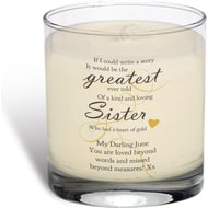 Personalised Memorial Greatest Story Rose Scented Candle