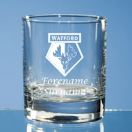 Personalised Watford FC Crest Whisky Glass