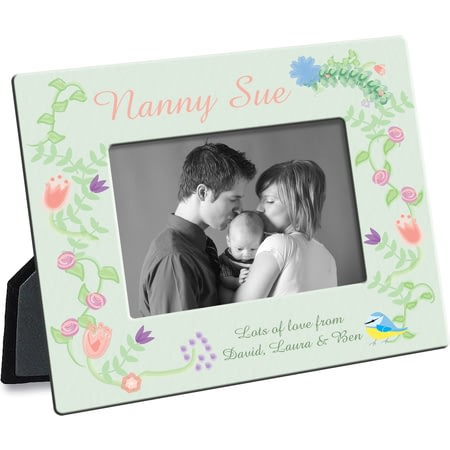 Personalsied Spring Garden Photo Frame