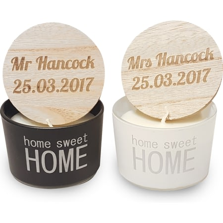 Personalised Mr & Mrs Home Sweet Home Scented Candles