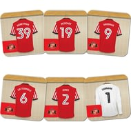 Personalised Sunderland AFC Goalkeeper Dressing Room Shirts Coasters Set of 6