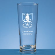 Personalised Sheffield Wednesday FC Crest Beer Pint Glass