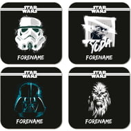 Personalised Star Wars Group Paint Coasters