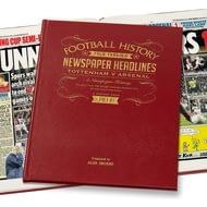 Personalised Spurs V Arsenal Derby Football Newspaper Book - Leather Cover