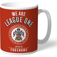 Personalised Accrington Stanley FC We Are League One Mug