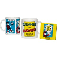 Personalised Beano Classic Comic Strip Top Dog Ceramic Mug & Coaster