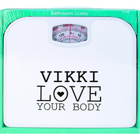 Personalised Love Your Body Bathroom Scales