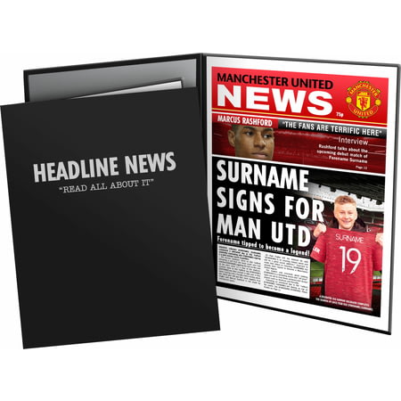 Personalised Manchester United FC Spoof Newspaper Folder