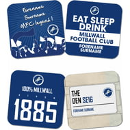 Personalised Millwall FC Coasters