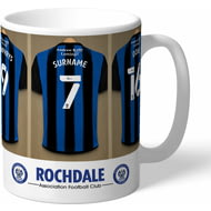 Personalised Rochdale AFC Dressing Room Shirts Mug