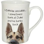 Personalised Sociable Dog Ceramic Mug