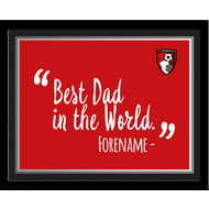 Personalised Bournemouth Best Dad In The World 10x8 Photo Framed
