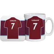 Personalised Burnley FC Shirt Mug & Coaster Set