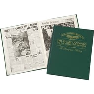 Personalised D-Day Landings History Newspaper Headlines Book