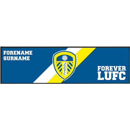 Personalised Leeds United FC Forever Large Bar Runner