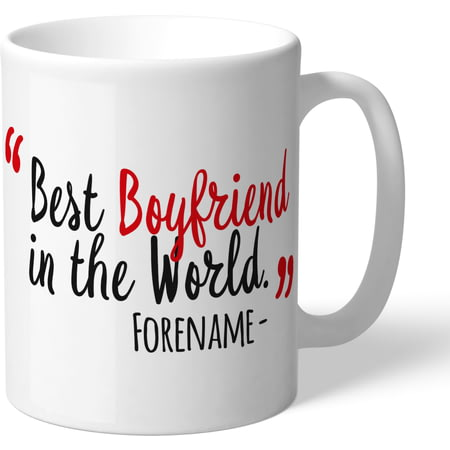 Personalised Manchester United Best Boyfriend In The World Mug