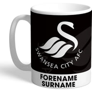 Personalised Swansea City AFC Bold Crest Mug