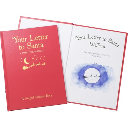 Personalised Your Letter To Santa Embossed Classic Hardback