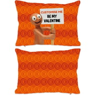 Personalised Morph 'Be My Valentine' Rectangle Cushion - 45x30cm