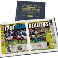 Personalised Birmingham City Football Newspaper Book - A3 Leather Cover