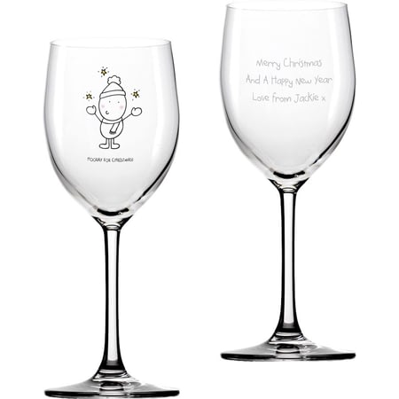 Personalised Chilli & Bubble's Christmas Wine Glass