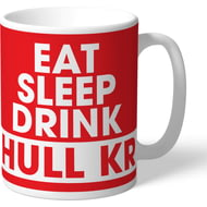 Personalised Hull Kingston Rovers Eat Sleep Drink Mug