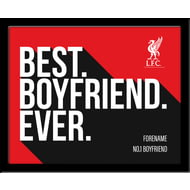 Personalised Liverpool FC Best Boyfriend Ever 10x8 Photo Framed