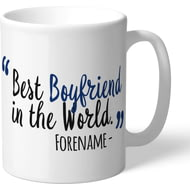 Personalised Millwall FC Best Boyfriend In The World Mug