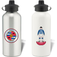 Personalised Reading FC Player Figure Aluminium Sports Water Bottle