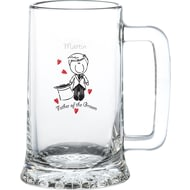 Personalised Graffiti Wedding Character Glass Stern Tankard