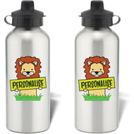 Personalised Kids Lion Aluminium Water Bottle