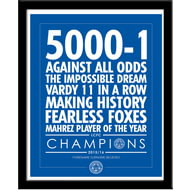 Personalised Leicester City Believe Framed Print