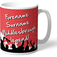 Personalised Middlesbrough FC Legend Mug