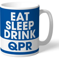Personalised Queens Park Rangers FC Eat Sleep Drink Mug