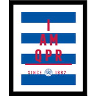 Personalised Queens Park Rangers FC I Am Framed Print