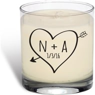 Personalised Sketch Heart Vanilla Scented Candle
