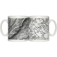Personalised 1805-1874 Old Series Map Of Your Postcode Ceramic Mug