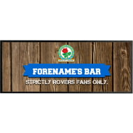 Personalised Blackburn Rovers Wood Name Regular Bar Runner