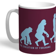 Personalised Burnley Evolution Mug