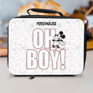 Personalised Disney Mickey Mouse Oh Boy! Insulated Lunch Bag - Black