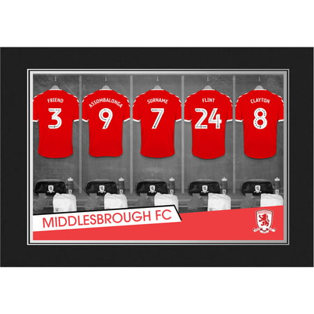 Personalised Middlesbrough FC 9x6 Dressing Room Shirts Photo Folder