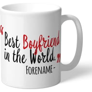 Personalised Southampton Best Boyfriend In The World Mug