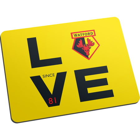 Personalised Watford FC Love Mouse Mat