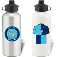 Personalised Wycombe Wanderers Aluminium Sports Water Bottle