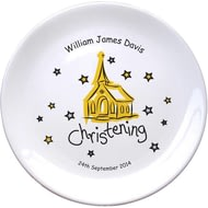 "Personalised Church Christening 8"" Bone China Coupe Plate"