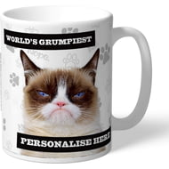 Personalised Grumpy Cat - Worlds Grumpiest Cat Mug