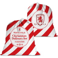 Personalised Middlesbrough FC Christmas Delivery Santa Sack