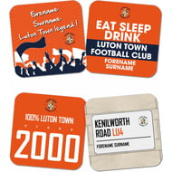 Personalised Luton Town FC Coasters
