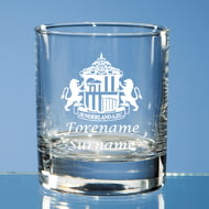 Personalised Sunderland AFC Crest Whisky Glass